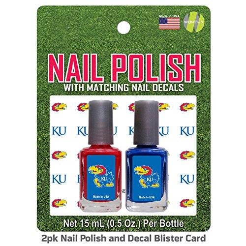 kansas-jayhawks-2-pack-nail-polish-with-decal-team-color