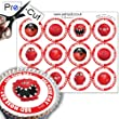 12 x PRE-CUT Comic Relief 'Red Nose Day' Noses - Edible Cake Toppers / Decorations