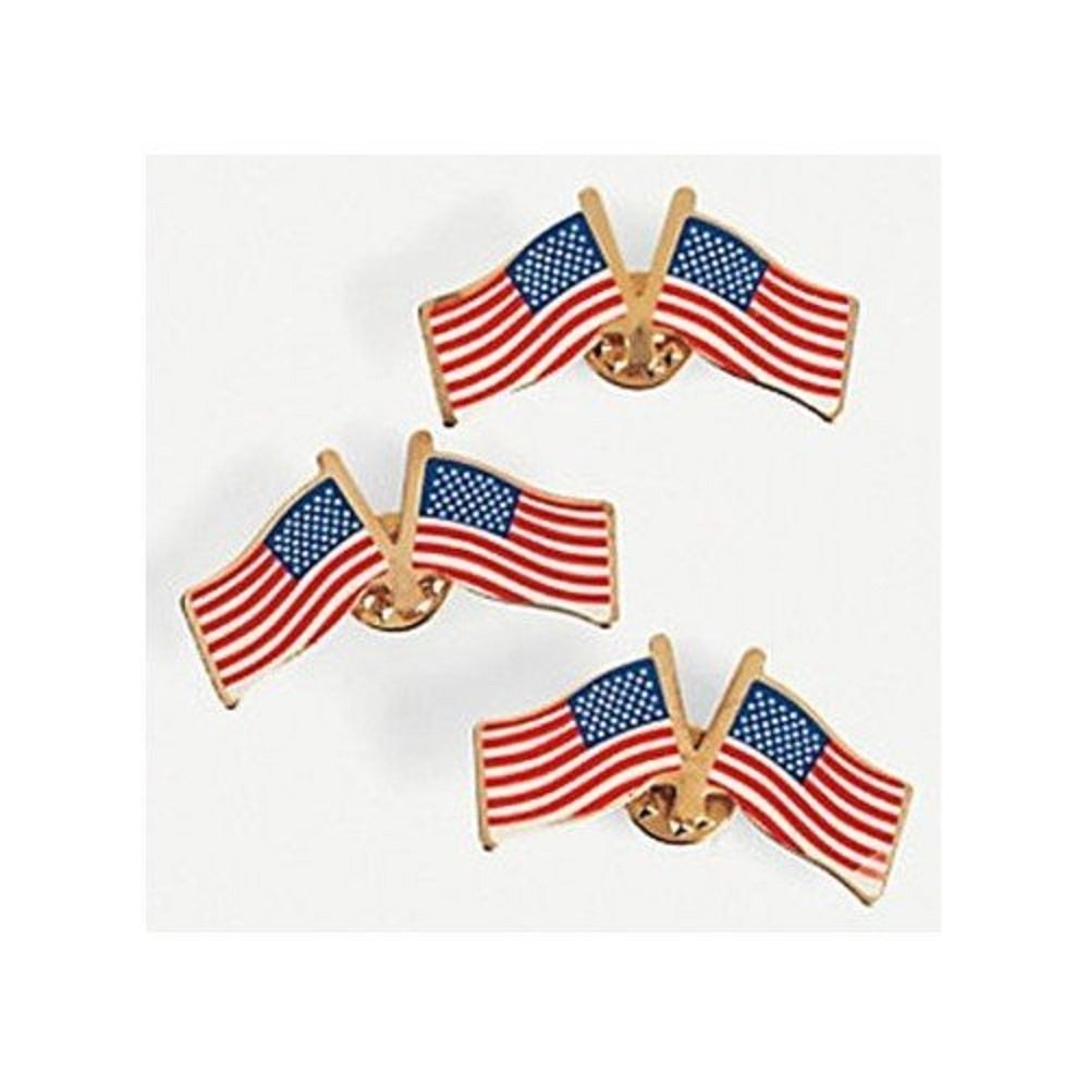 Double USA Flag Pins. Wear These Metal Double USA Flag Pins On Your Lapel  Or Handbag For A Simple Yet Stylish Way To Express Your ...