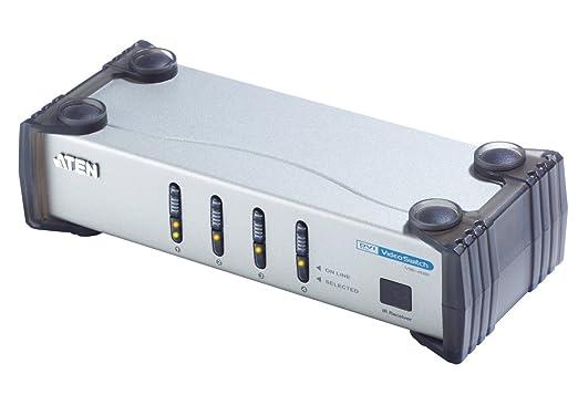 Aten VS461 Commutateur audio-vidéo DVI à 4 ports avec télécommande infrarouge