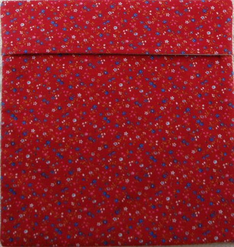 "Premium Microwave Potato Bag - Red White and Blue Floral - Approximately 10"" x 10"" - 100% Pure Cotton Material, Lined and Insulated - Handmade in the USA - Also Great for Corn on the Cob, Sweet Potato"