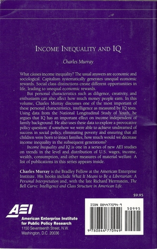 Income Inequality and IQ (AEI Studies on Understanding Economic Inequality)