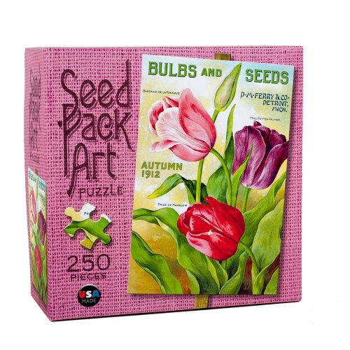 DB & Company Autumn Tulips Seed Pack Puzzle (250-Piece) - 1