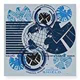 CafePress Agents of Shield Square Sticker 3 x 3 - 3x3 White