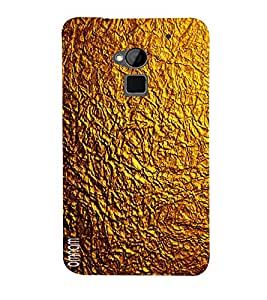Omnam Golden Texture Printed Designer Back Cover Case For HTC One Max