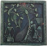 Roops Collection Terracotta & Wood Terracotta 3D Wall Mural - (34 cm X 34 cm X 3 cm, Green & Black)