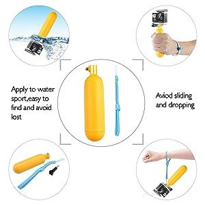 AKASO Outdoor Sports Action Camera Accessories Kit 14 in 1 for AKASO EK7000/ EK7000 Plus/ EK7000 Pro/Brave 4/ V50/ V50 Pro/ V50 Elite/CAMPARK/ Go Pro Hero 5 in Swimming Any Other Outdoor Sports