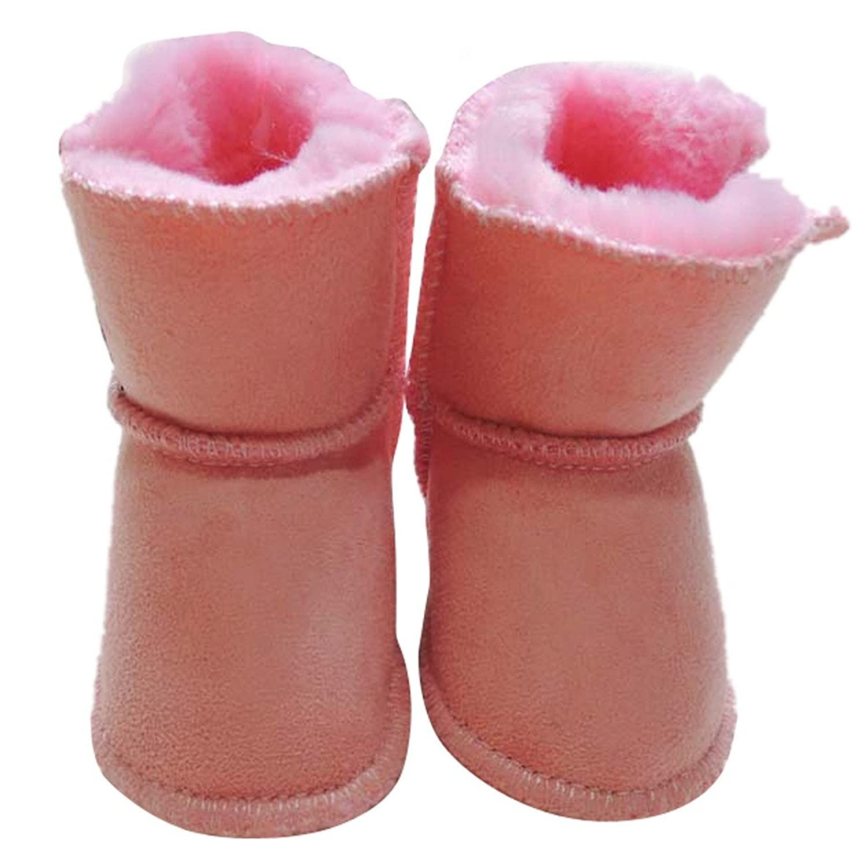 Tangda Baby Schuhe Winter Kleinkind Mädchen Lederstiefel Baumwolle Schuhe 11-13cm Länge Schnee Stiefel für Baby Größe 18-20.5 – Rosa bestellen