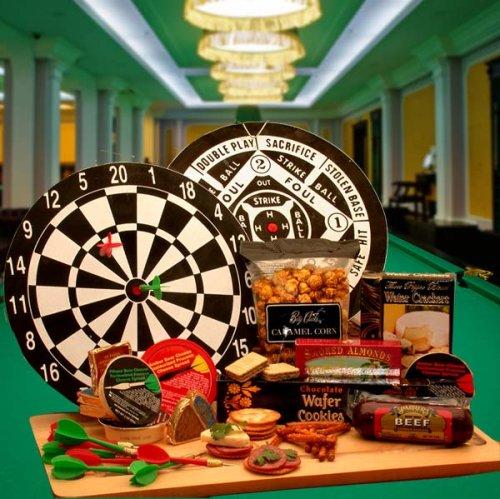Dart Board Set -Gourmet Dart Players Gift -Great Birthday Gift Idea For Dart Players