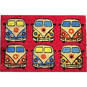 VW Campervan Rectangular Doormat Red from Giftworks