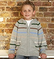 Pure Cotton Long Sleeve Fine Stripe Hooded Top