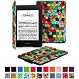 Fintie SmartShell Case for Kindle Paperwhite - The Thinnest and Lightest Leather Cover for All-New Amazon Kindle Paperwhite (Fits All versions: 2012, 2013, 2014 and 2015 New 300 PPI), Mosaic
