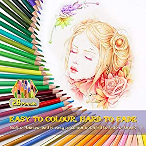 VicTsing 72 Colored Pencils, Premier Coloring Pencil Set with 3.3mm Hard Core (Harder Than Normal 2.8mm Core), Exquisite Metal Box, for Child Painting, Sketching, Colouring Books, 2019 Upgraded