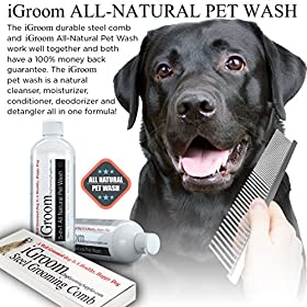 Save $9.77 - Durable Steel Dog Grooming Comb And Shedding Tool, Money Back Guarantee, Pet Supplies Free 65-page Guide