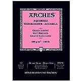 Arches 400014958 Watercolor Pad, Hot Press, 10