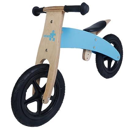 Labebe-Vélo et Véhicule pour Enfant - Draisienne en bois Avec pneu (bleu)