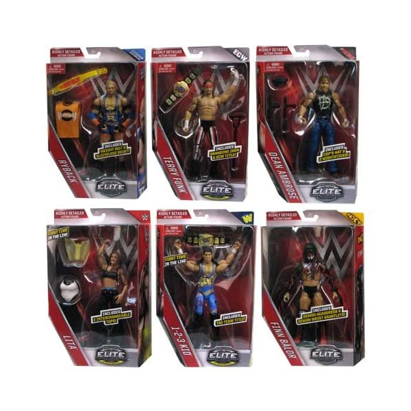WWE Elite Collection Series 41 - Complete Set of 6 Mattel Toy Wrestling  Action Figures