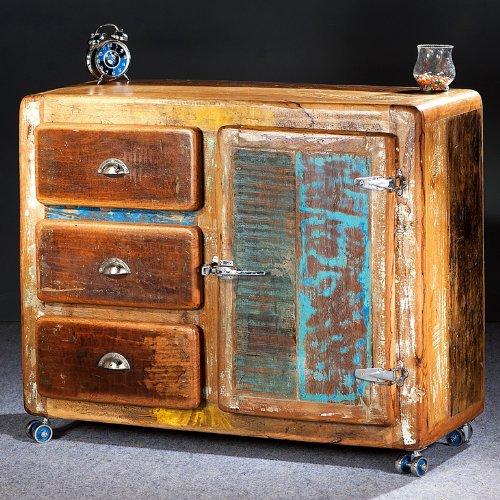 SalesFever un aparador de madera maciza–GLACE altholz en Shabby Chic pequeño 3cajones