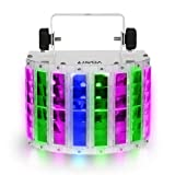 Lixada 24W DJ Stage Lights 8 Colors LED Wide Beam Effect Lamp, 6 Channel DMX 512 Voice-activated Automatic Control LED Projector with IR Remote DJ Home KTV Disco Stage Effect Lighting Metal Casing (Color: Middle)