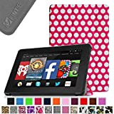 """Fintie Fire HD 7 Tablet (2014 Oct Release) SmartShell Case Cover Ultra Slim Lightweight with Auto Sleep / Wake Feature (will only fit Fire HD 7"""" 4th Generation 2014 model) - Polkadot"""