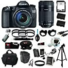 Canon EOS 70D EFS 18-135mm IS STM Kit + Canon EF-S 55-250mm f/4-5.6 IS STM Lens + 64GB SD HC Memory Card + 58mm Digital Flower Lens Hood + 58mm Photo Essentials Kit + (2) Replacement Batteries for Canon + AC/DC Rapid Mini Battery Charger for Canon + Accessory Kit