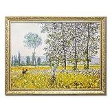風景画 インテリア モネ Champs au printemps 1884 MW-18068 絵画 名画シリーズ