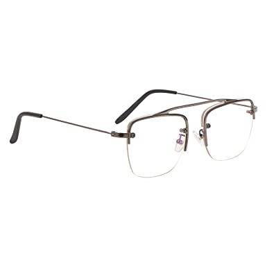 aye roof grey square raees frames for men uv protected medium size