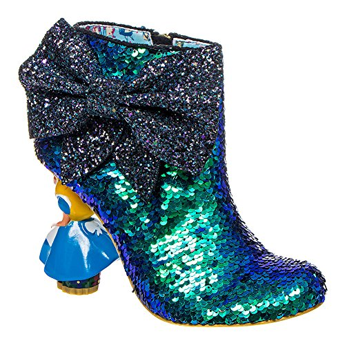 Irregular Choice Who In The World Am I? Heeled Booties (Blue)