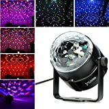 Mini LED Dream Magic Ball Colorful Crystal Stage Light, Costech Flexible 360 Degree Automatic Rotating Strobe Bulb Multi Color Lamp for Show,KTV,Party,Wedding,Club,Disco,Theater