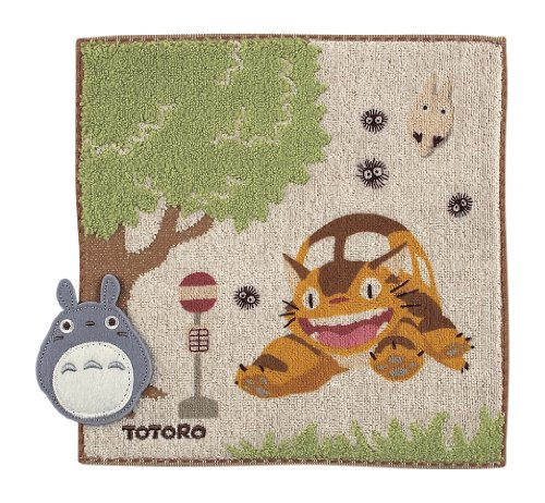 My Neighbor Totoro Totoro bus stop (steam shirring print applique) Mini Towel 590 396