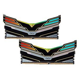 OLOy DDR4 RAM 64GB (2x32GB) Warhawk Aura Sync RGB 3000 MHz CL16 1.35V 288-Pin Desktop Gaming UDIMM (MD4U323016DEDA) (Color: Black, Tamaño: 32GBx2)