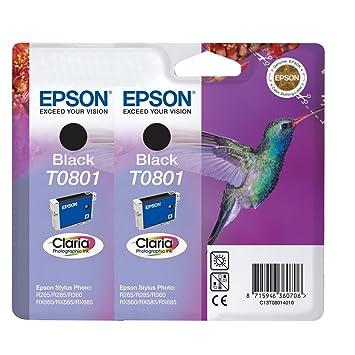 2 x Cartouches d'encre Epson T0801 - noir