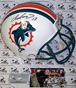Dan Marino Autographed Hand Signed Miami Dolphins Authentic Helmet by Hall of Fame Memorabilia