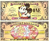Disney Theme Park Exclusive Merchandise - Disney Dollars - One Dollar Bills - 2008 Series T Uncirculated, Mint Condition