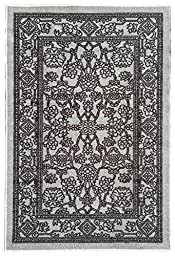 Rubber Back Non-Slip 2-Piece Rug SET Fancy Egyptian Print Traditional Grey Area Rug - Rana Collection Kitchen Hallway Entry Pet High Traffic Rug RAN2054-2PC