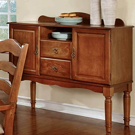 1PerfectChoice Spring Creek Kitchen Dining Side Server Buffet Table Country Style American Oak