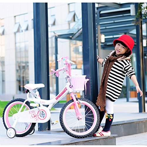 Royalbaby Jenny Princess Pink Girl's Bike with Training Wheels and Basket, Perfect Gift for Kids, 18 inch wheels 5