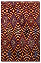 LA Rug Botticelli Abstract Geometric Area Rug (5 by 8 Foot) 603-30-0508
