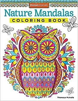 Nature Mandalas Coloring Book Coloring Is Fun Amazonco