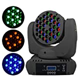 BETOPPER DJ Moving Head Light 363W RGBW LED Beam Lights Spot Stage Lighting 150W with 9/11 Channel for Party Disco DJ Show DMX-512(One of the Most Professional Spot Light) (Color: T108)