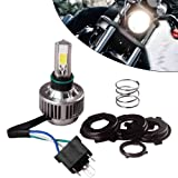 YITAMOTOR H4 COB LED Bulb HID White 360° High Low Beam Motorcycle Headlight 6500K High Power