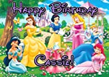 Princess Tea Party 1/4 Sheet Edible Photo Birthday Cake Topper. ~ Personalized!