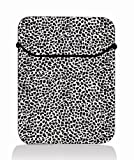 White black leopard print 14'' 14.1'' 14.4'' Laptop Flip Sleeve Case Notebook Bag Cover Pouch For Sony VAIO/CW/CS / 14