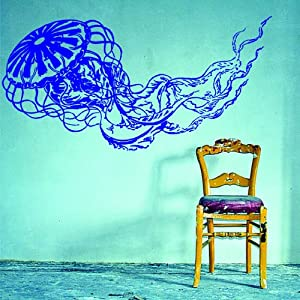 Jellyfish decal sticker wall art graphic fish for Diving and fishing mural
