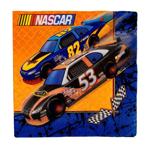 NASCAR Full Throttle Lunch Napkins (16 count) - 1