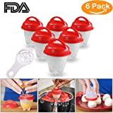 YTH Egg Cooker-Silicone Egg Poachers for hard boiled eggs,Egg Cups AS SEEN ON TV,Hard&Soft Maker,Boil Eggs Without the Egg Shell (Pack of 6) (Silicone Egg) (Color: Silicone Egg)