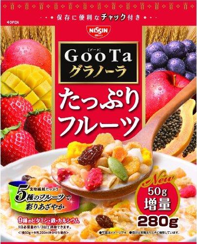 日清シスコ GooTaグラノーラたっぷりフルーツ 280g×8袋