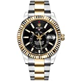 Luxury Rolex Sky-Dweller Black Dial Gold & Steel Mens Watch - Reference: 326933 (Color: Black)