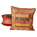 Ufc Mart Multi -Color Jacquard Cushion Cover 2 Pc. Set, Color: Multi-Color, #Ufc00473