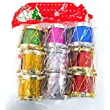 Christmas Tree Decor With Small Drums Each Pack Of 3